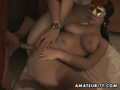 Hot amateur girlfriend suck and fuck with facial tubes
