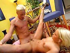 Bitch gags on cock and they fuck tubes
