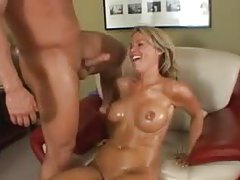 Kayla Synz oiled up and nailed in the ass tubes