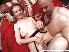 Skinny granny fucked by father and son tubes