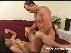 Latina minx with huge tits spreads wide for cock tubes