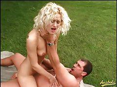 Trashy slut hardcore fuck in the grass tubes