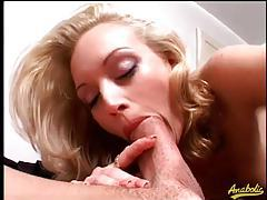 Monica Mayhem sucks cock and ass tubes