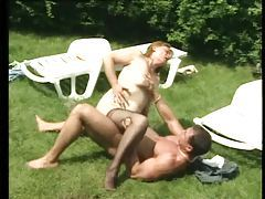 Chubby mature laid outdoors by stiff dick tubes
