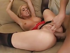 Blonde anal slut and her ass to mouth friends tubes