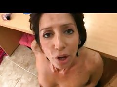 Milf POV blowjob and sex in the office tubes