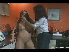 Sexy mistress dominates a redheaded lesbian tubes