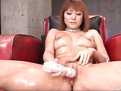 Oiled coated body is sexy on masturbating girl tubes