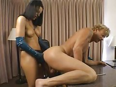 Belladonna fucked in the ass with strapon tubes