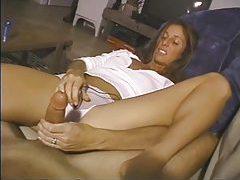 Leggy milf teases cock with her handjob tubes