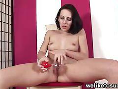 Dick teasing brunette tubes