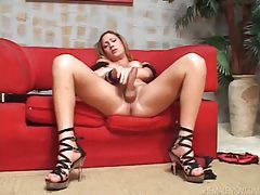 Latin shemale with huge tits getting her cock sucked tubes