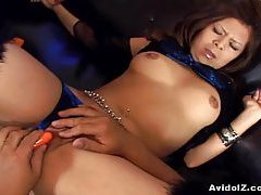 Naughty Kana Kawai enjoy her vibrator tubes