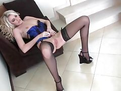 Gorgeous Danielle Maye teases in sexy lingerie tubes