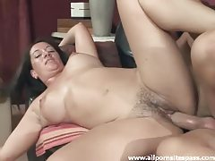 Terrific milf cock ride and facial tubes