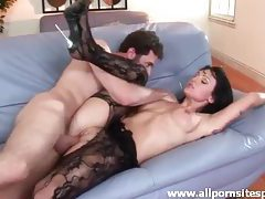 Tattooed milf in hot stockings getting her ass reamed tubes