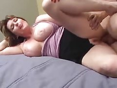 Curvy mature and her young lover get it on tubes