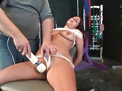 His tied down dungeon girl is vibrated tubes