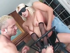 Two cocks face fuck a slutty blonde tubes
