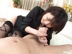 Video ends with Japanese girl licking ass tubes