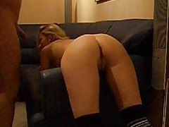 Amateur bent over the couch fucked tubes