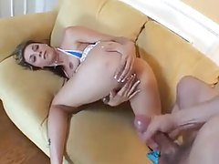 Banging her throat and pumping her cunt tubes