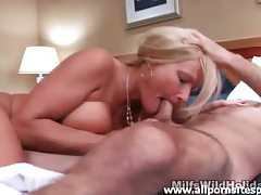 Hotel room BJ and fuck with milf slut tubes