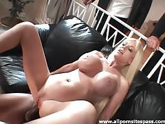 Hubby watches her make BBC DP porn tubes