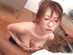 Teacher gives a titjob and blowjob tubes