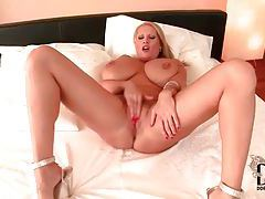 Big girl with huge tits and she teases them tubes