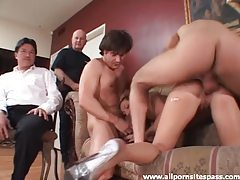 Horny wife takes two in cuckold video tubes