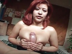 Big cock stretches pussy from behind tubes