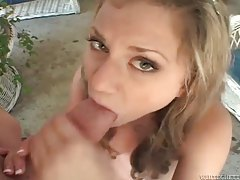 She swallows big load from a big cock tubes