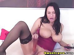 Huge Titties Deep Dildo Penetration HD tubes