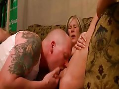 Leggy blonde cougar enjoys sucking cock and getting fingered tubes