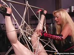 Expert hogtie milf knows how to tie up her horny sex slave tubes