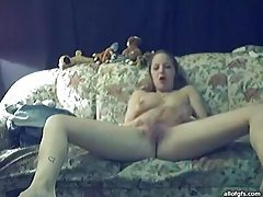 Full striptease and homemade masturbation tubes