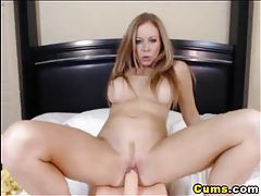 Busty Blonde Fucks her Toy HD tubes