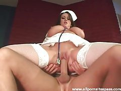 Nurse with huge massive titties riding a big thick shaft tubes