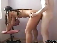 He fucks her amateur hole from behind tubes