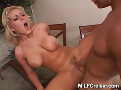 Long thick shaft fucks into slutty blonde tubes