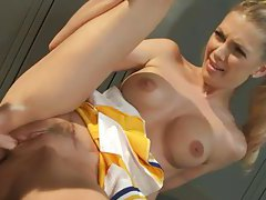 Hot lesbian cheerleader sex in locker room tubes
