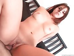 Sensual cock riding with a little tits brunette tubes