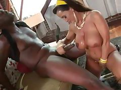 Lisa Ann pleasures a big black cock tubes