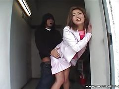 Lovely Asian fucking in public tubes