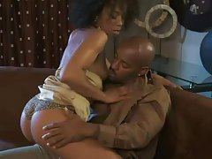 Black couple in foreplay and lovemaking tubes