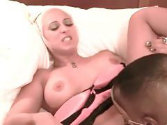 Tattooed white slut wants black cock inside her tubes