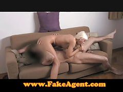 FakeAgent Cute angel takes monster facial tubes