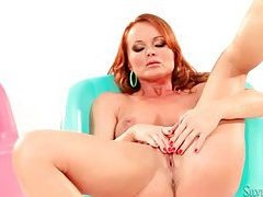 Silvia Saint masturbating as a redhead tubes