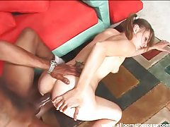 Young brunette in pigtails interracial anal sex tubes